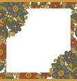 bright floral frame vector image