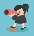 business women seeking with binocular vector image vector image