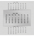 calendar month for 2016 pages July start Monday vector image vector image
