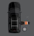 Car repair service concept vector image