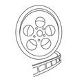 cartoon image of film reel vector image