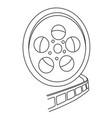 cartoon image of film reel vector image vector image