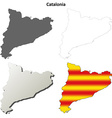 Catalonia blank outline map set - Catalan version vector image vector image