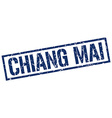Chiang mai blue square stamp vector image vector image