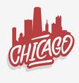 chicago illinois usa cityscape city skyline urban vector image