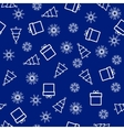 Christmas and New Year seamless blue pattern vector image vector image