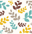 colorful leaf seamless pattern vector image