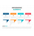 colorful shape business infographics elements vector image vector image
