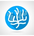 Coral flat blue round icon vector image