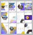 creative brochure templates with hexagonal design vector image vector image