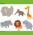 cute safari animals set vector image vector image