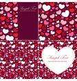 cute valentine heart set congratulation cards vector image vector image