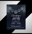 dark christmas decorative flyer design vector image