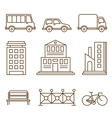Design Elements for City or Map vector image vector image