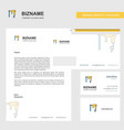 drill machine business letterhead envelope and vector image vector image