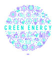 ecology and green energy concept in circle vector image vector image