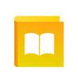education icon with book yellow color logo for vector image