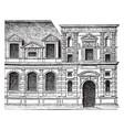 facade tuileries officially grand vector image vector image