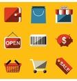 Flat icon set Shop