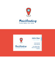 flat location logo and visiting card template vector image vector image