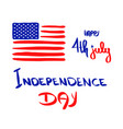fourth july banner happy 4th july holiday usa vector image
