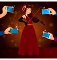 glamorous female singer in dress vector image vector image