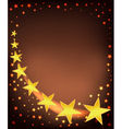 golden stars flying vector image vector image