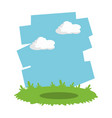 grass and sky landscape cartoon vector image