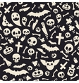 Halloween Symbols Seamless Pattern Contrast vector image vector image