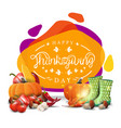 happy thanksgiving creative greeting banner with vector image