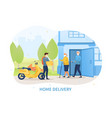 home delivery during covid-19 pandemic vector image