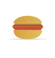 hot dog in a bun vector image