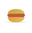 hot dog in a bun vector image vector image