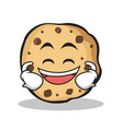 laughing sweet cookies character cartoon vector image vector image