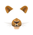 lion animal face filter template video chat photo vector image vector image