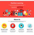 machine learning website design vector image