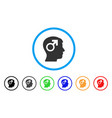 male symbol head rounded icon vector image vector image