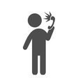 man with shouting phone flat icon pictograph vector image vector image
