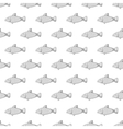 Marine fish seamless pattern vector image