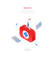 medicine and healthcare - modern isometric vector image vector image