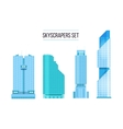 modern skyscrapers icons set Flat design of the vector image