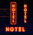 neon city banner hotel vector image vector image
