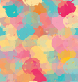 Paint stains green yellow and pink vector image vector image