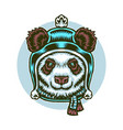 panda winter vector image vector image