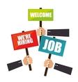 recruitment process concept icon vector image