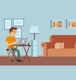 remote work freelance distance learning young vector image