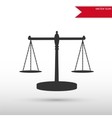 Scales of Justice Black icon and jpg Flat vector image vector image