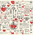 seamless pattern on theme of declaration of love vector image