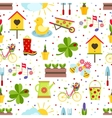 seamless spring background vector image