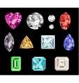 Set of colorful gemstones vector image